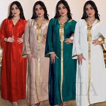 Moroccan Caftan Arabic Dubai Muslim Abaya Dress for Women Ramadan Eid 2021 Moroccan Kaftan Hooded Robe Turkish Islamic Jalabiya White 2