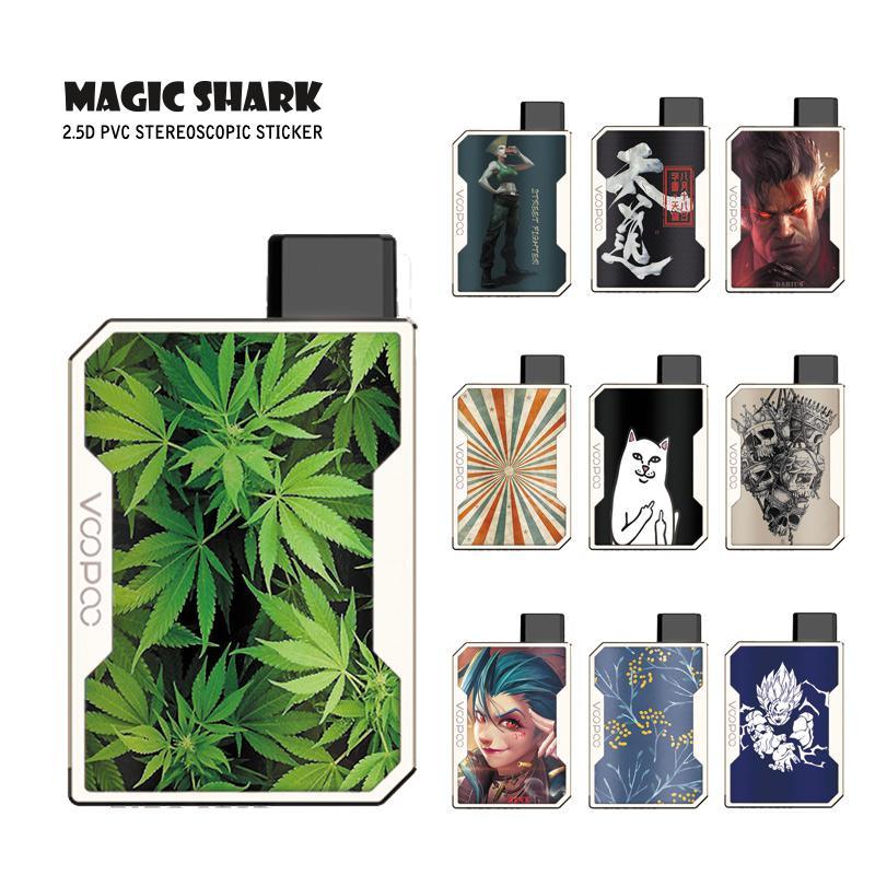 Magic Shark Fashion Game Leaf Dragon Ball Flower Super Saiyan Skull LOL JINX Case Sticker Skin Film For Voopoo Drag Nano