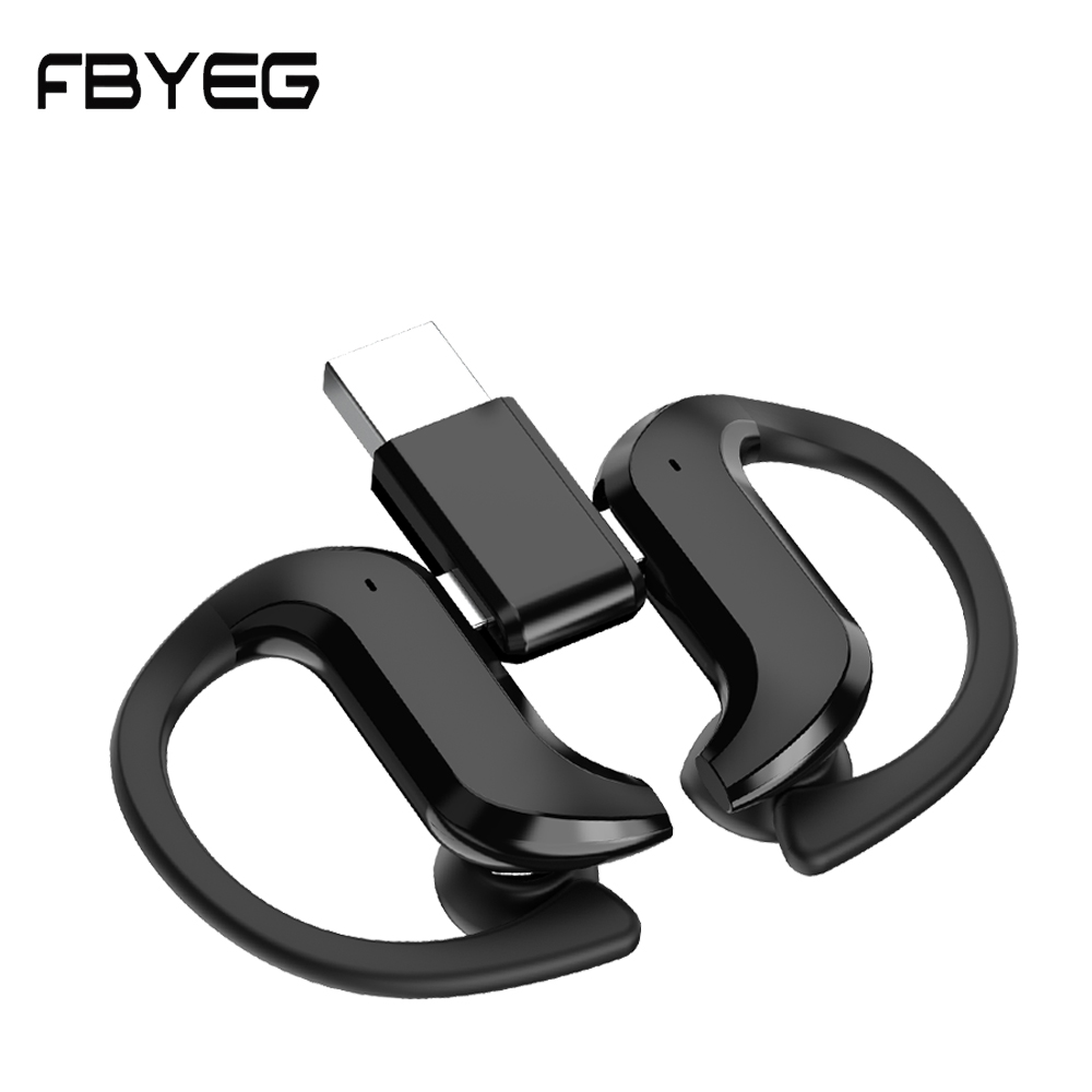 FBYEG Bluetooth 5.0 Earphones Wireless Headphone Touch Finger Sports Waterproof Real Wireless Earphones Ear Hooks Stereo|Bluetooth Earphones & Headphones|   - AliExpress