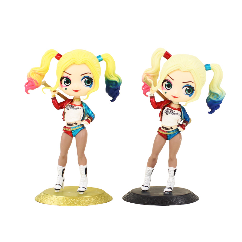 15cm Q Posket Figures Toy Harley Quinn Suicide Squad Model Dolls Gift For Kids