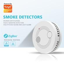 Zigbee Smart Smoke Detector Fire Alarm Sensor Detector Home Security System Wireless Remote Control Smoke Alarm Fire Protection