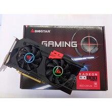 BIOSTAR/RX 580 4 gb / 256 - bit ekran kartı/grafik kartı/bilgisayar ekranı kartı/RX470 580/560/570/550 AMD Radeon PUBG