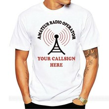 amateur ham radio callsign antenna mens womens new t shirt size 8 10 12 s-xxl(China)