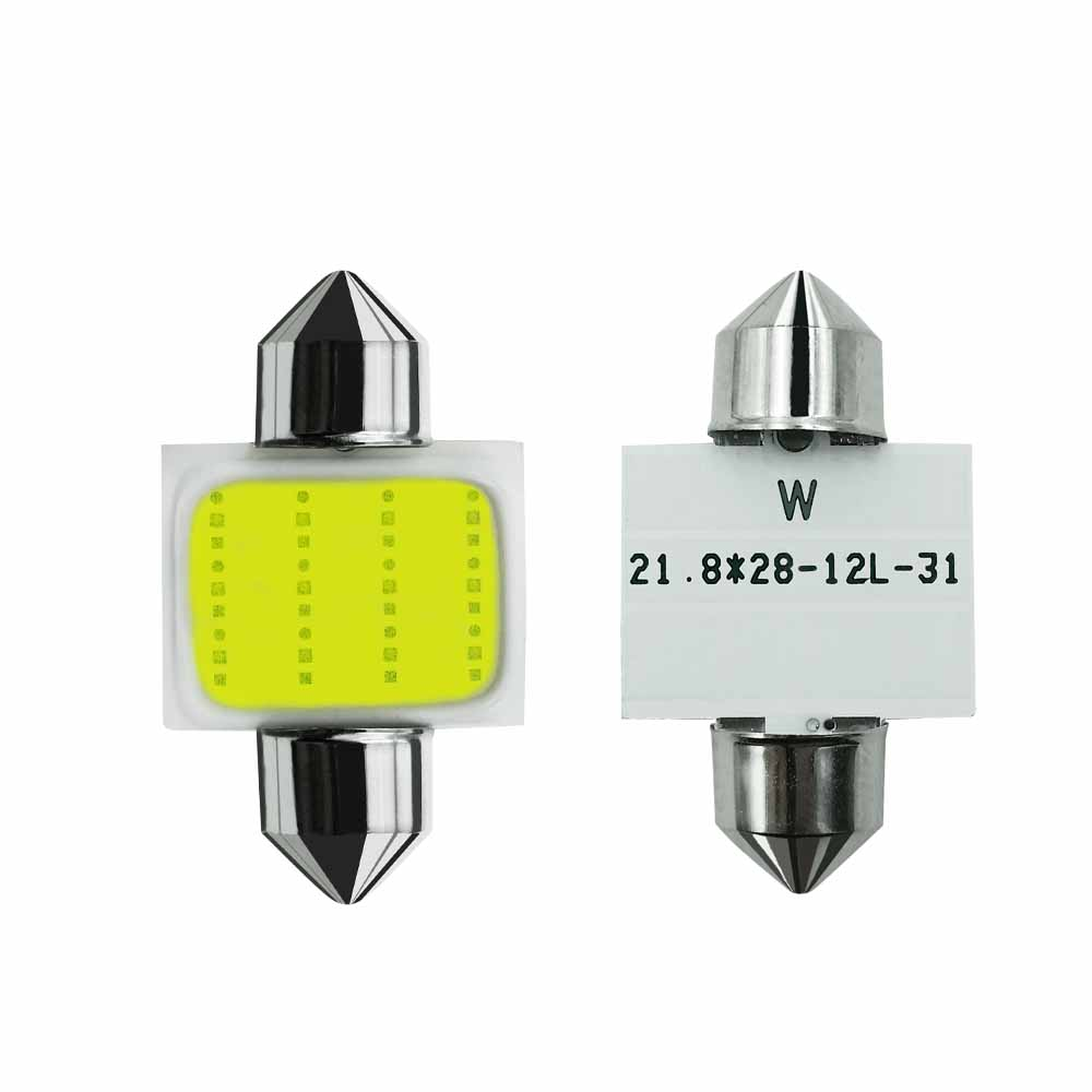 LSlight Car <font><b>LED</b></font> 2x Festoon 31mm 36mm 39mm <font><b>42mm</b></font> COB <font><b>LED</b></font> <font><b>Bulb</b></font> C5W White Car Dome Reading Map Light Auto Interior Lamp DC12V image