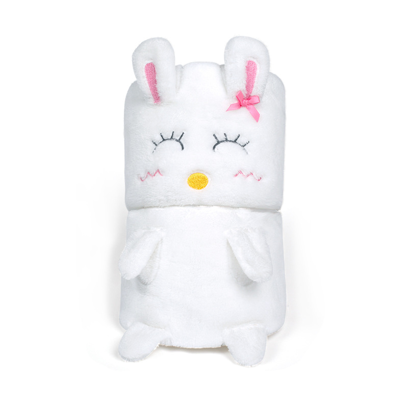 Newborn Cartoon Bear Rabbit Blanket Soft  Baby Velvet  Bath Towel Swaddle Baby Novelty Products