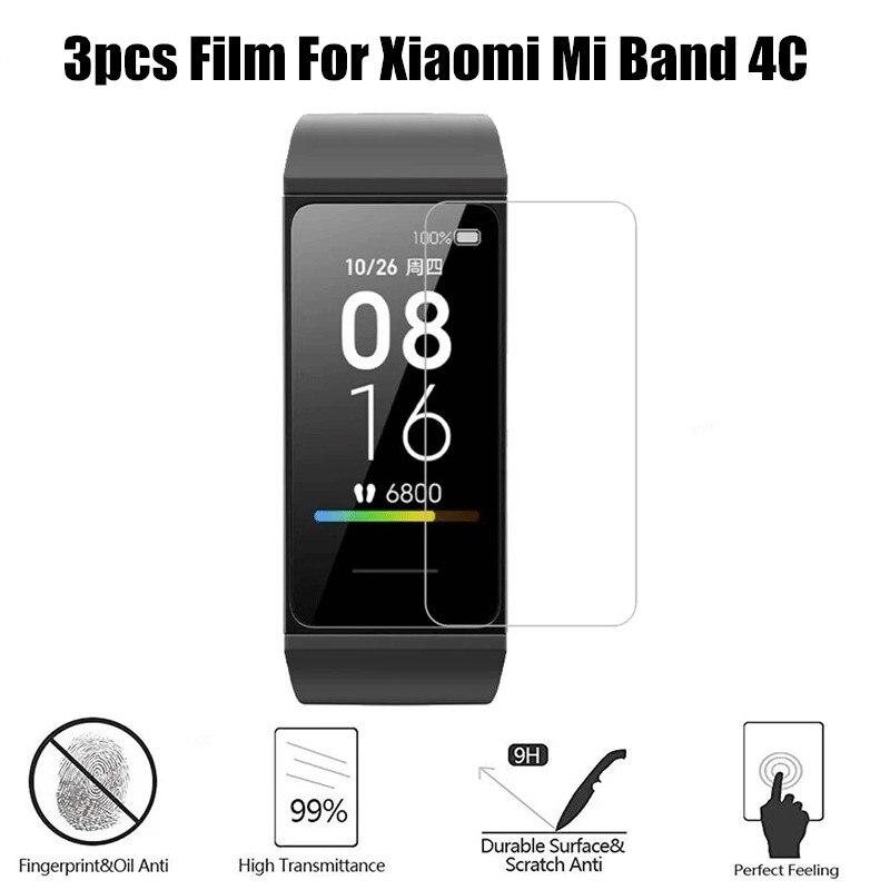 Закаленное стекло для mi band 4c, пленка для защиты экрана, Взрывозащищенная устойчивая к царапинам Защитная пленка для Xiaomi mi band 4c