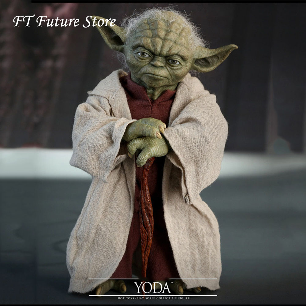 Collectible In Stock HOT TOYS HT 1/6 MMS495 Episode II: Attack of the Clones Yoda Full Set Action Figure Model for Fans Gifts image