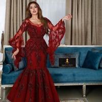 Evening Dress 2020 Mermaid For Arabic Women Turkey in Dubai Formal party long Night Prom Gowns Plus Size