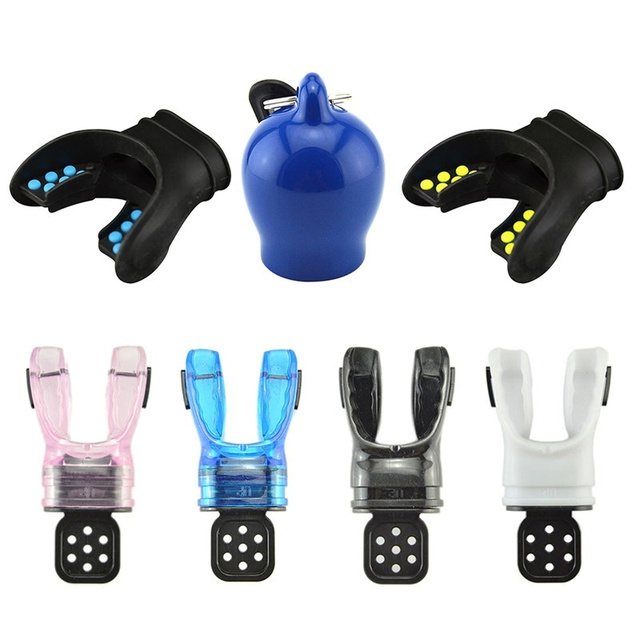Adults Scuba Diving Mouthpiece Moldable Silicone Bite Comfort Breath Underwater Regulator With Tie Wrap Practical Equipment 5