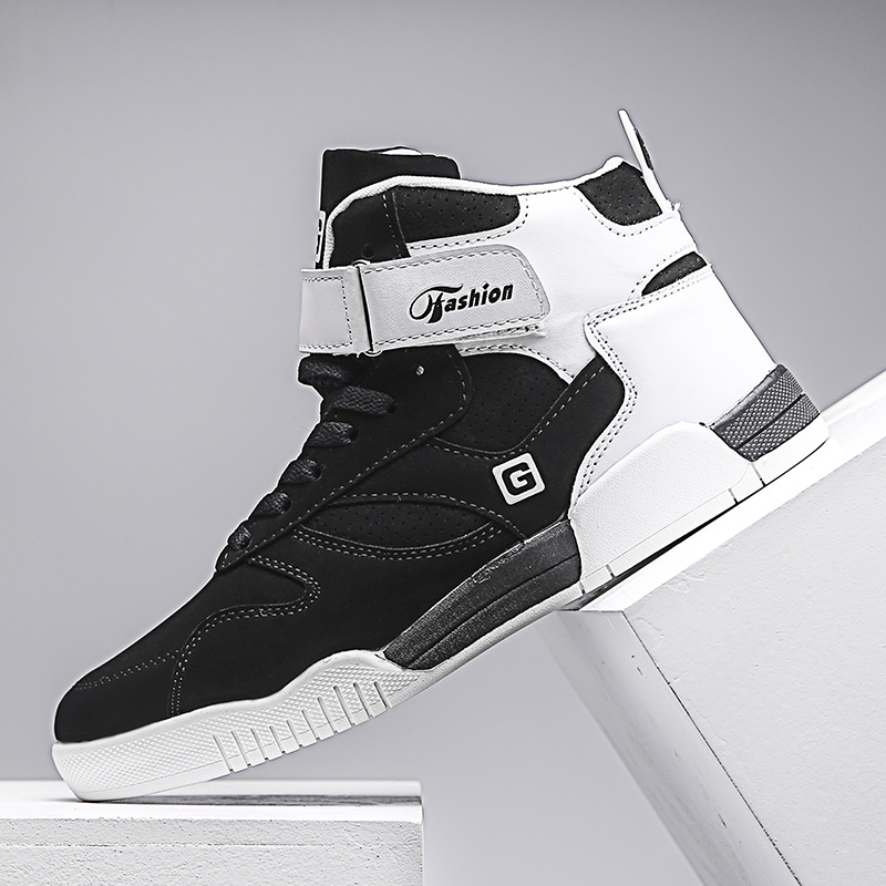New Men Autumn Big Size 46 High Top Sneakers  Bieber Shoes Hip Hop Skateboarding Shoes Men Street  Party Club Botas  Zapatilla
