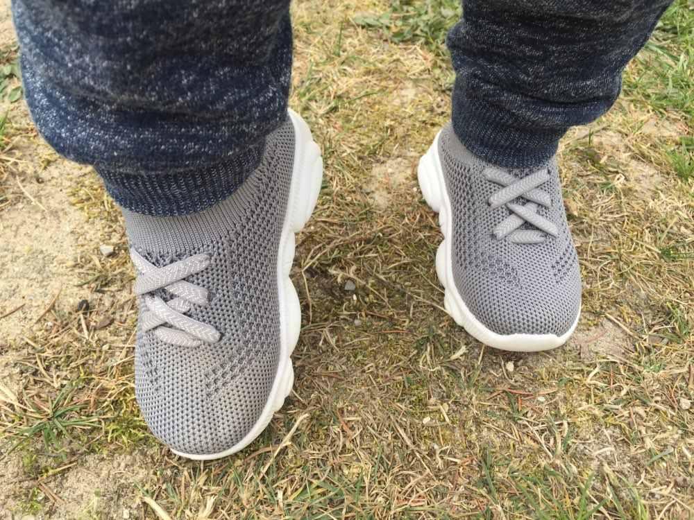 Yeni bebek Sneakers 2019 moda çocuk düz ayakkabı bebek çocuk bebek kız erkek katı streç örgü spor koşu Sneakers ayakkabı