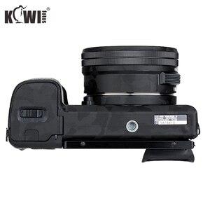 Image 4 - מצלמה גוף מדבקת נגד שריטות כיסוי מגן סרט ערכת עבור Sony Alpha A6000 + SELP1650 16 50mm עדשה 3M מדבקת צל שחור