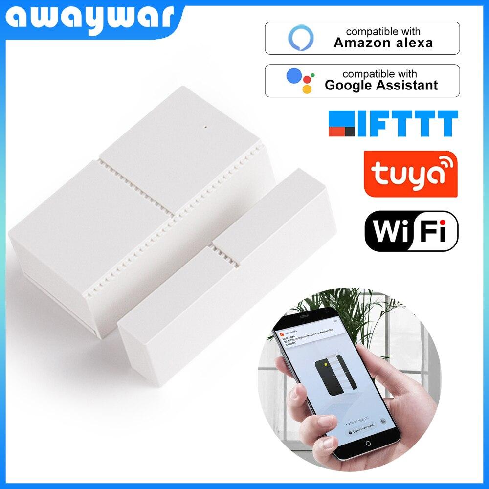 Tuya WIFI Door Sensor Wireless Window Doorsensor APP Control Security Alarm Magnetic Switch Smart Home System Compatible