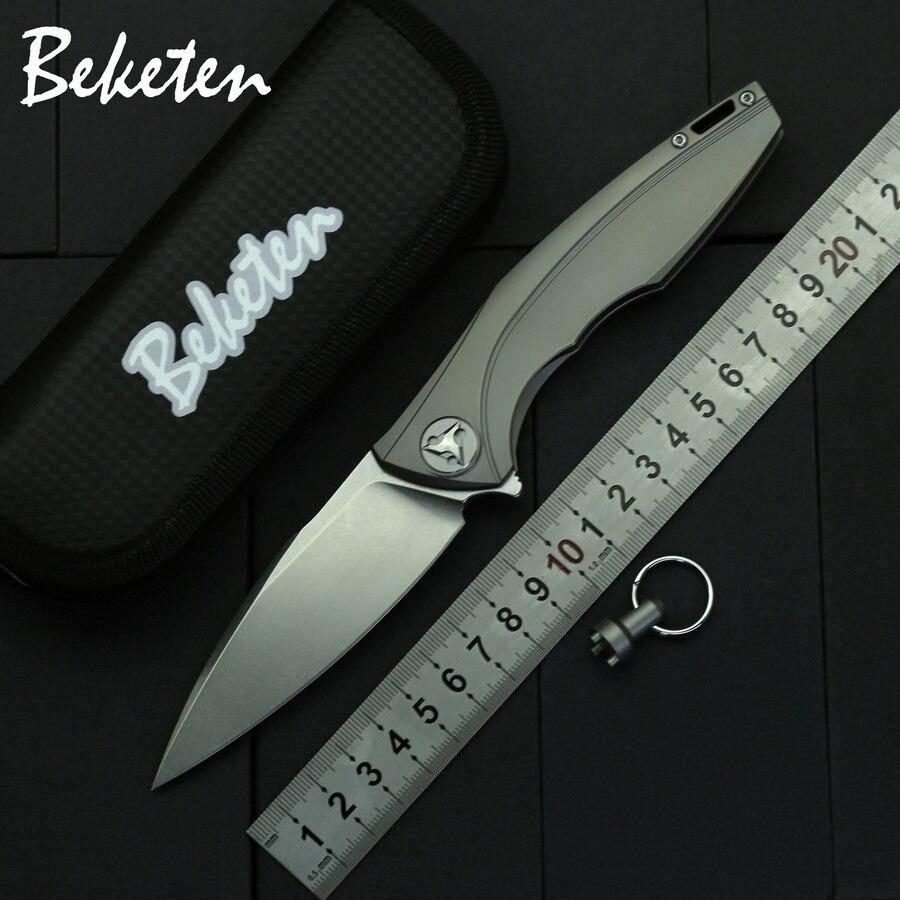 BEKETEN новый титановый складной нож D2 лезвие для кемпинга, охоты, рыбалки, выживания, тактические карманные ножи, инструменты для повседневного использования|Ножи| | АлиЭкспресс