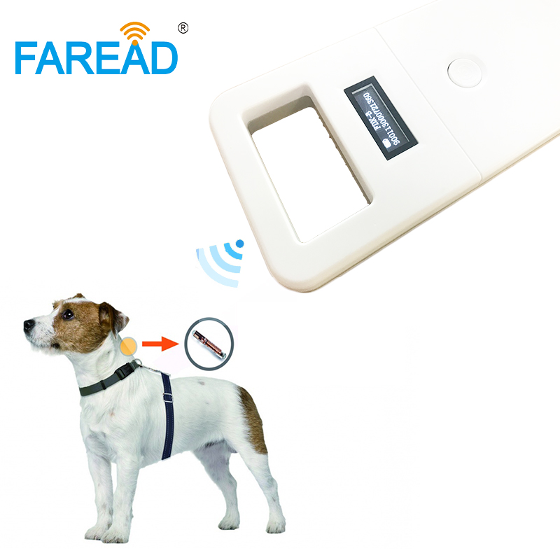 Free shipping FDX-B Animal pet ID reader chip transponder USB RFID handheld microchip scanner