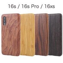 Natuurlijke Houten Telefoon Case Voor Meizu 16 S Pro 16XS Case Cover Black Ice Hout, Granaatappel Hout, walnoot, Palissander, Bamboe