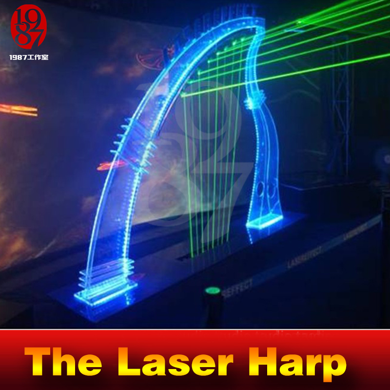 Image 3 - Takagism Game prop laser harp for room escape game puzzle clues device Play the right rhythm to unlock and get away chamber room-in Alarm System Kits from Security & Protection