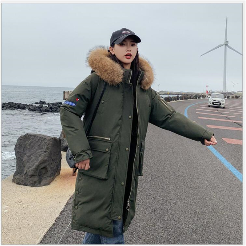 Fashion winter jacket women 2019 long winter Coat women ArmyGreen plus size women   Parka   casaco feminino jaqueta feminina 246