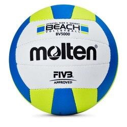 Palla di pallavolo Molten bv5000 spiaggia voleibol giochi materiale DELL'UNITÀ di elaborazione formato 5 di formazione donna volley pallavolo ufficiale bola de volei
