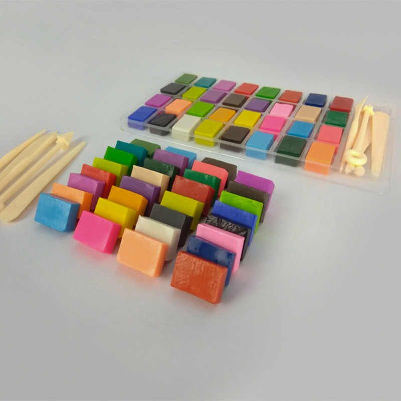 36 Mixed Colors Set Oven Bake Fimo Polymer Soft Clay Modelling Moulding DIY 32