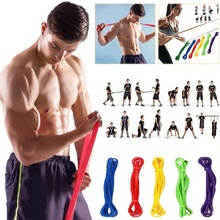 1шт резиновые полосы сопротивление группы физической активности унисекс йога спортивные упругой