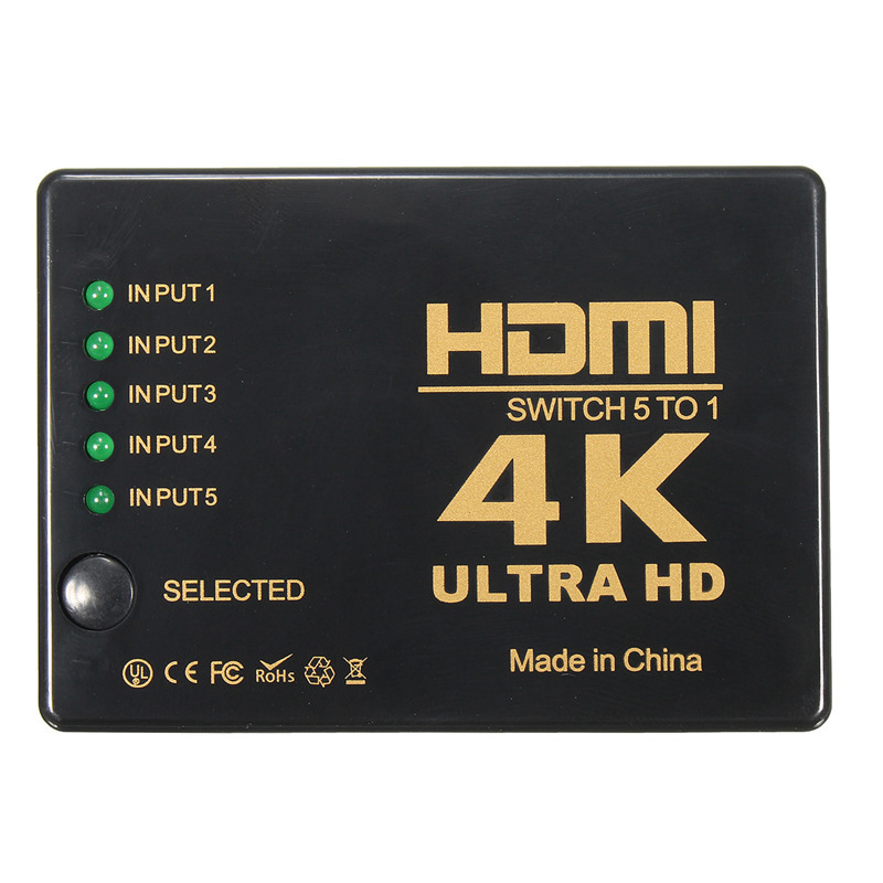 HDMI Distributor 3/2 In 1 Out Switcher 2 Three/Two Into A 4 K Ultra-clear Remote Control Split-Screen TV