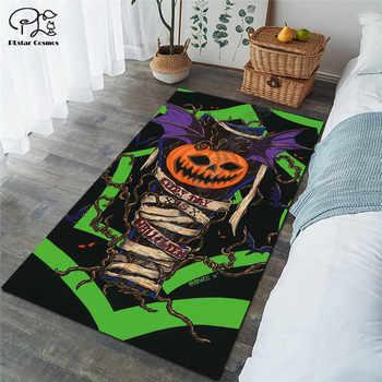 Happy halloween pumpkin carpet Square Anti-Skid Area Floor Mat 3D Rug Non-slip Mat Dining Room Living Room Soft Bedroom Carpet - DISCOUNT ITEM  30 OFF Home & Garden
