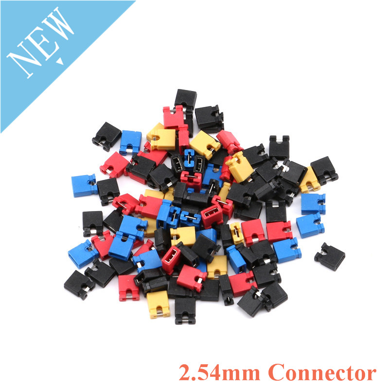 100pcs 2.54mm Connector Pin Header Jumper Blocks Cap For 3 1/2 Hard Disk Drive CD/DVD Drive Motherboard And/or Expansion Card