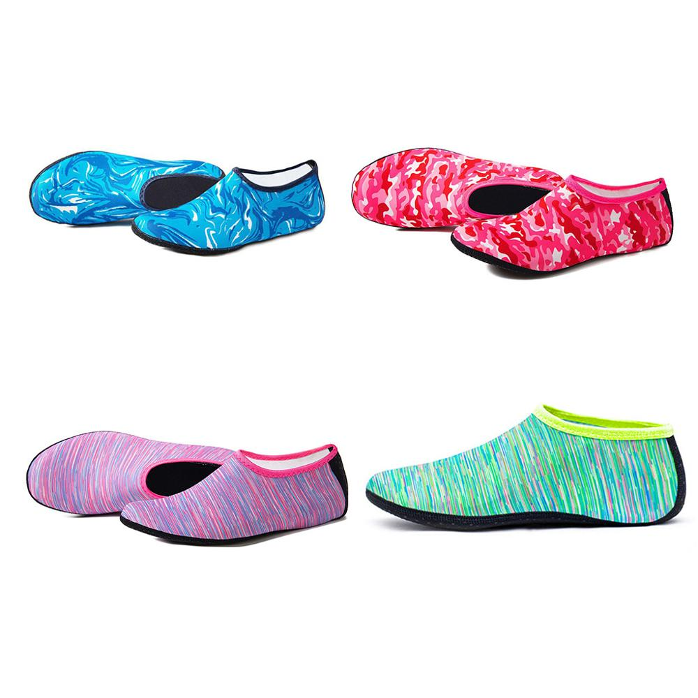 Women Men Summer Yoga Sport Beach Water Shoes Camouflage Print Diving Snorkeling Aqua Socks Swimming Quick-Dry Barefoot Slipper