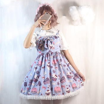 2020 japanese lolita cosplay lolita dress fairy dress lolita skirt sweet lolita vestido lolita lolita jsk dress фото