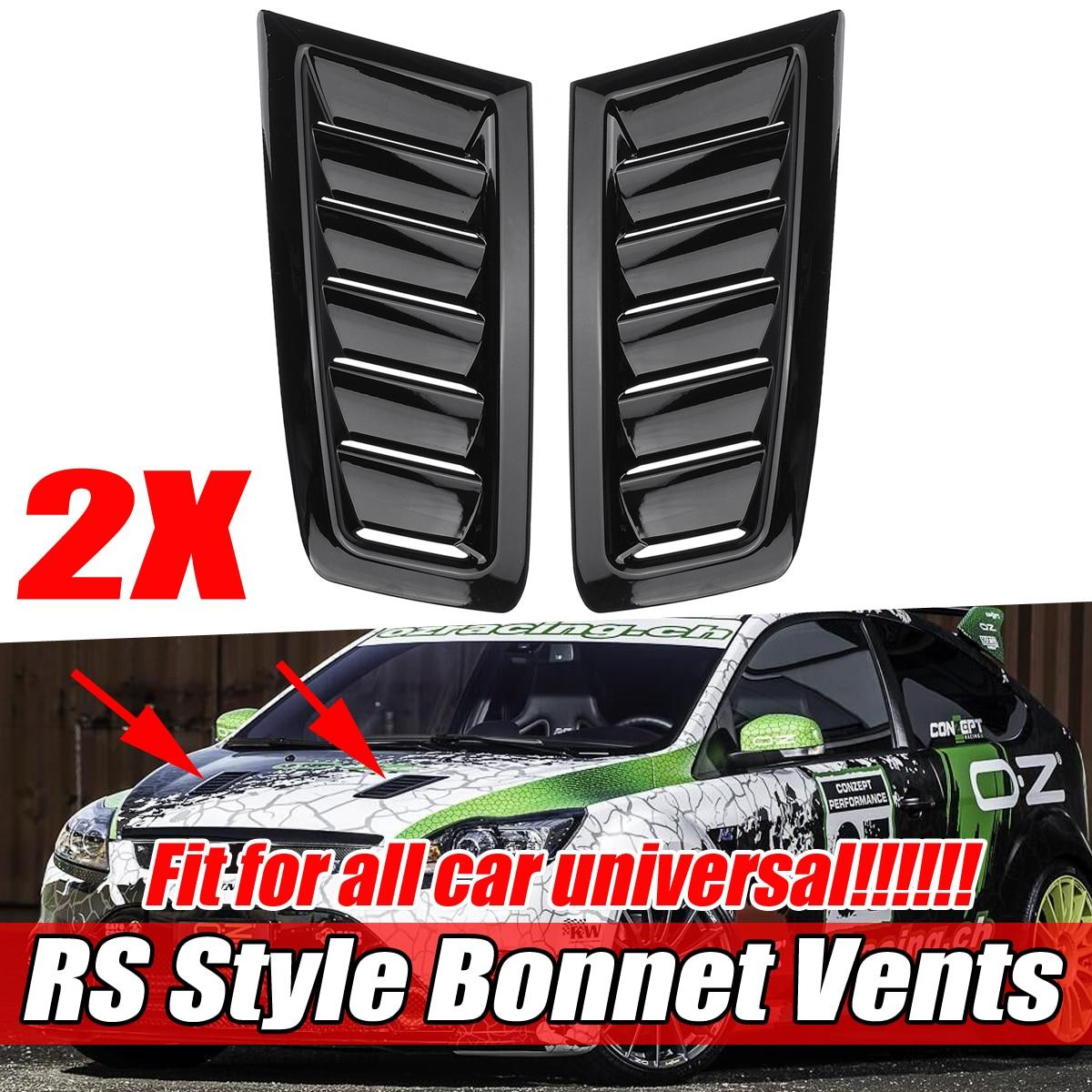 1 par universal frente do carro capô aberturas capa para ford para foco mk2 para benz para audi para bmw para honda infiniti para civic