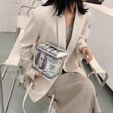 Доллар узор женская сумка из искусственной кожи, новинка, милые женщины девушки сумка-почтальон через плечо, Повседневная сумка женские сум...