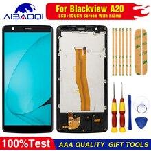 מקורי מסך מגע LCD תצוגה עבור Blackview A20 Digitizer הרכבה עם חלקי חילוף מסגרת + לפרק כלי