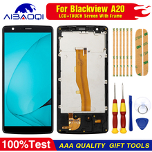 Oryginalny wyświetlacz LCD z ekranem dotykowym do zestawu Digitizer Blackview A20 z części wymienne do ramy + narzędzie do demontażu