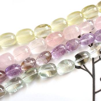 6 sztuk partia różowy kwarcowy ametyst cytryn prasiolite owalne bryłki luźne koraliki tworzenia biżuterii DIY dla kobiet tanie i dobre opinie RUORUO CN (pochodzenie) NONE Kamień półszlachetny zawieszki Owalny kształt 14mm moda 2EH1-2-3-4 pink quartz amethyst citrine prasiolite