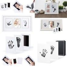 Caliente recién nacido recuerdos para bebés sin tinta limpiar Kit de bebé-mano huella de pie regalo huella de mano huella de los responsables de la nueva llegada