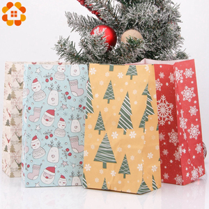 Image 3 - 1SET Mix Types Deer Snowflakes Candy Gift Bags With Stickers Merry Christmas Guests Packaging Boxes Christmas Party Gift Decor