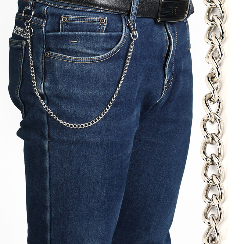 38cm/15inch Long Metal Wallet Belt Chain Rock Punk Trousers Hipster Pant Jean Keychain Ring Clip Keyring HipHop Jewelry