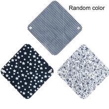 1pc Color Random New Reusable Panty Liner Cloth Waterproof Menstrual Sanitary Pad Napkin Women Cotton Pads Washable Period N3V1