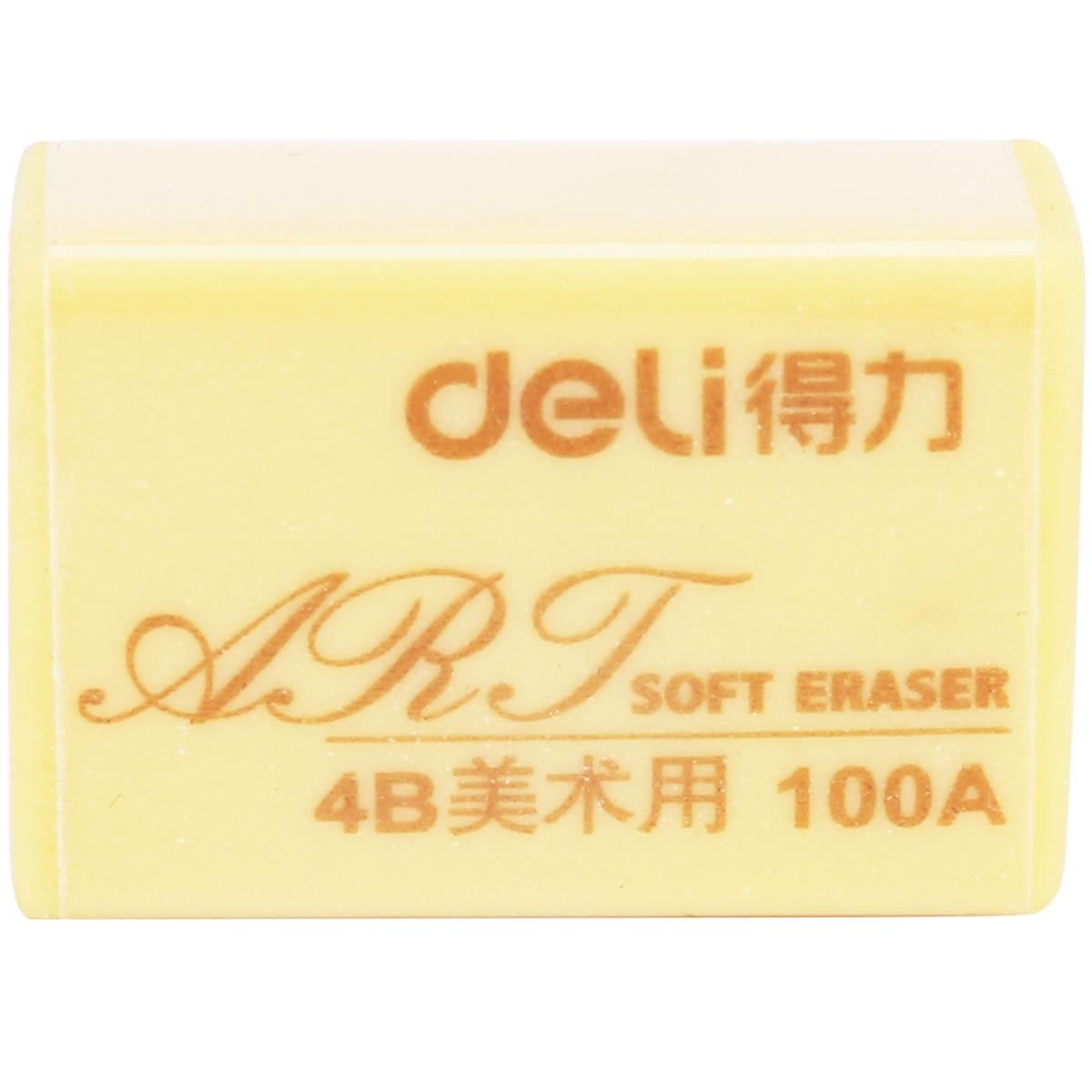 Deli Fine Art With Rubber Eraser 7534 Students Mapping Rubber 4B Rubber Fine Art Painted Rubber Wholesale
