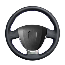 Hand stitched Black PU Artificial Leather Car Steering Wheel Cover for Lada Granta 2018 2020 Priora 2 2013 2017 2018 Kalina 2