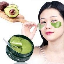 Masque au collagène à base d'avocat, Gel hydratant naturel, patchs pour les yeux, élimine les cernes, sac Anti-âge, soins pour la peau, 60 pièces