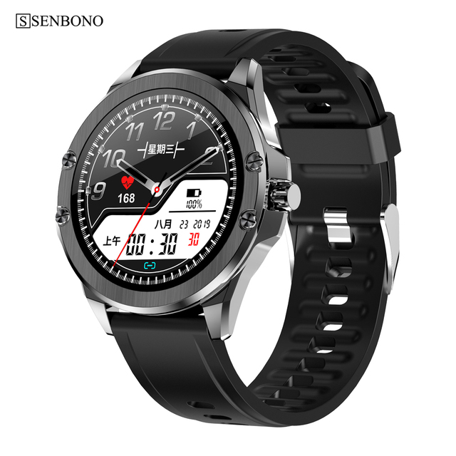 SENBONO S11 2020 Smart Watch Fitness Tracker Heart Rate Monitor Smart Clock IP68 Waterproof Men Women Smartwatch For Android IOS