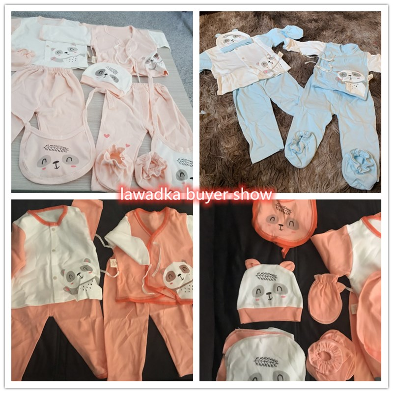 18 piece/lot Newborn Baby Girl Clothes 100% Cotton Infant Baby Girl Summer Clothes Soft Baby Boys Clothing Newborn Hat Bibs