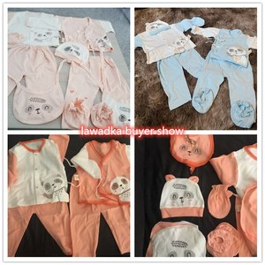 Image 4 - 18 piece/lot Newborn Baby Girl Clothes 100% Cotton Infant Baby Girl Summer Clothes Soft Baby Boys Clothing Newborn Hat Bibs