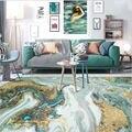 Ковры для гостиной  скандинавский абстрактный морской водный золотой узор  ковер для спальни  гостиной  аксессуары для стола  напольный ков...