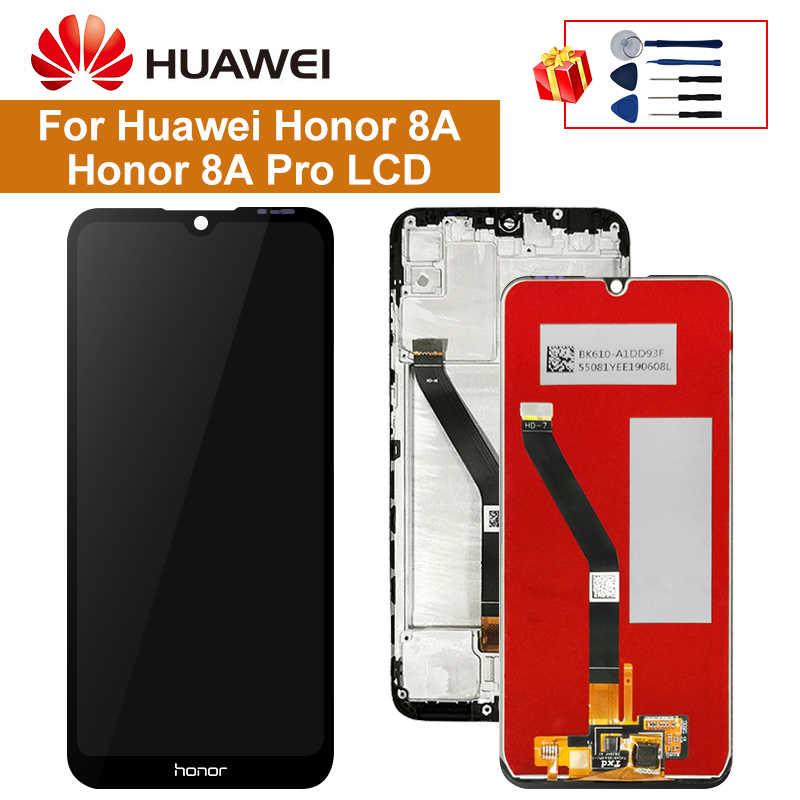6.09 ''Màn Hình Cho Huawei Honor 8A Màn Hình Hiển Thị LCD Bộ Số Hóa Cảm Ứng Phần Với Phần Khung Cho 8A Pro JAT-L29 màn Hình LCD