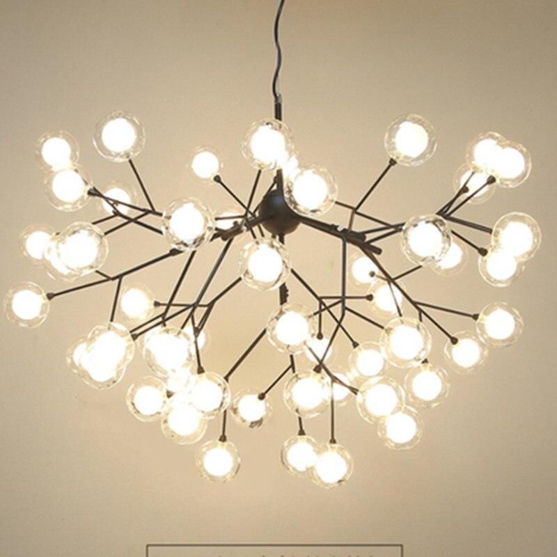 Modern LED Glass Pendant Light Nordic Dining Room Kitchen Light Romantic Firefly Hanging Lamps Avize Lustre Lighting
