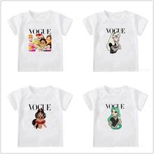 VOGUE Summer Kids Girls Boys Casual Short Sleeve Cartoon Printed Children Clothes Tops Kids Baby T-shirt 1-12Y