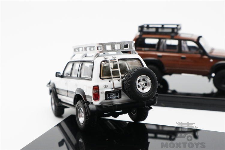 marrom branco diecast modelo carro 05